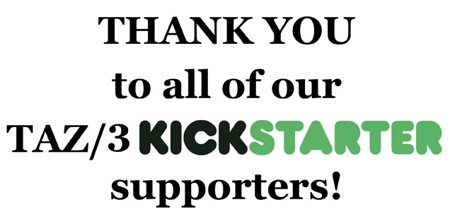 THANK YOU to our Kickstarter supporters!